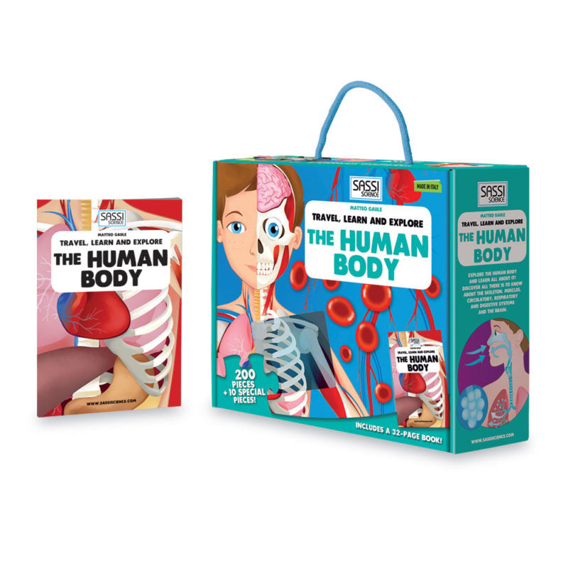 The Human Body Giant Floor Puzzle + Book - Sassi