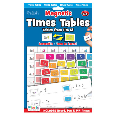 Times Tables Magnetic Chart
