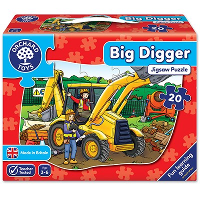 orchard toys big digger 20 piece shaped floor puzzle