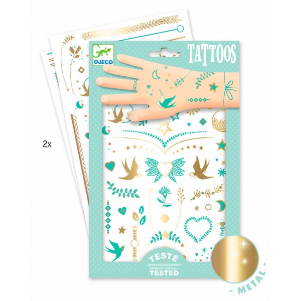 Djeco Lily's Jewels temporary tattoos