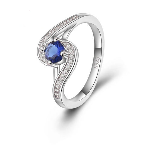 'Blue Opal' - 925 Sterling Silver Ring