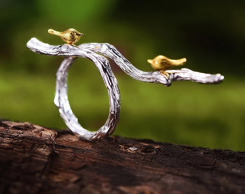 'The Bird Song' - 925 Sterling Silver Ring