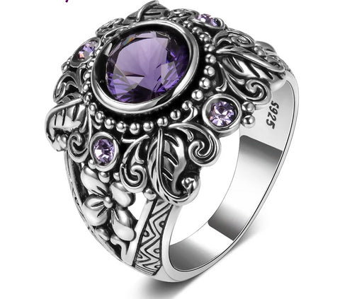 'Purple Dreaming' - 925 Sterling Silver Ring