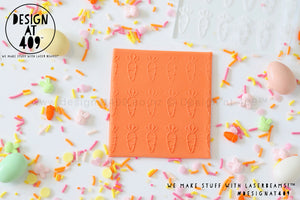 Carrots Patterned Raised Acrylic Fondant Stamp