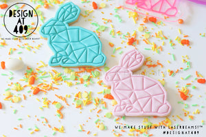 Geo Bunny Rabbit Stamp & Cutter