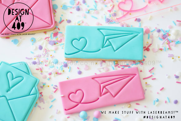 Paper Plane Heart Stamp & Cutter