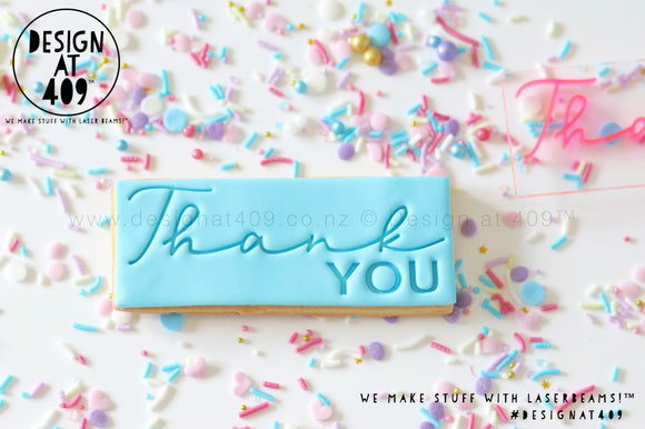 Thank You Script Stamp & Cutter