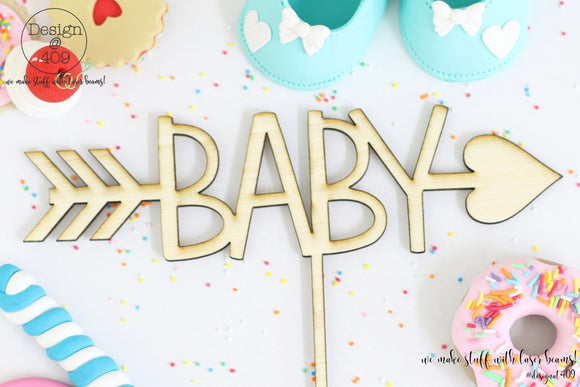 Baby With Through Arrow Cake Topper (colour choices)