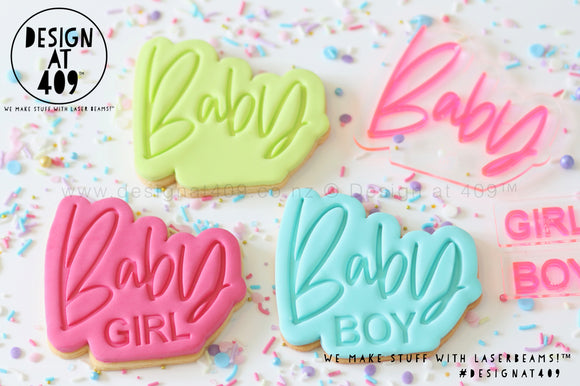 Baby With Boy / Girl Stamp & Cutter Set