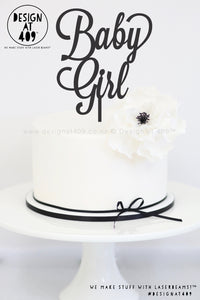 Baby Girl Cake Topper / Style #2 (colour choices)
