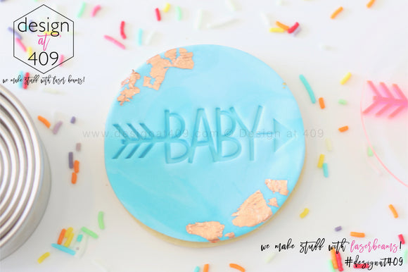 Baby With Arrow Acrylic Embosser Stamp