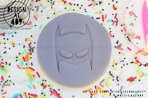 Bat Mask Acrylic Embosser Stamp