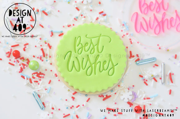 Best Wishes Acrylic Embosser Stamp
