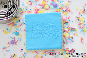 Born To Be A Unicorn Raised Acrylic Fondant Stamp