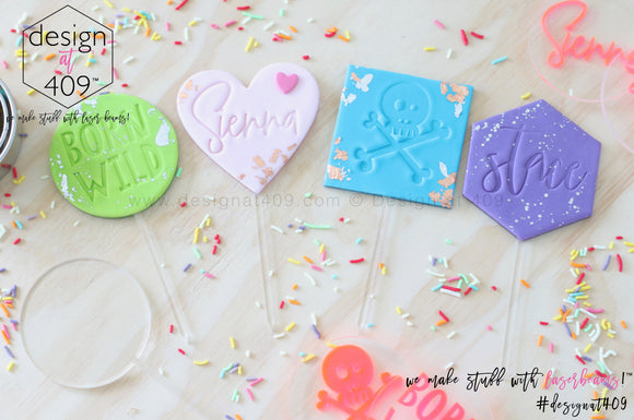 Blank Cake Toppers (colour choices)
