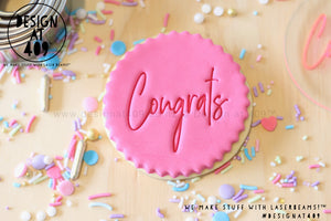 Congrats 2 Acrylic Embosser Stamp