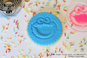 Cookie Monster Acrylic Embosser Stamp
