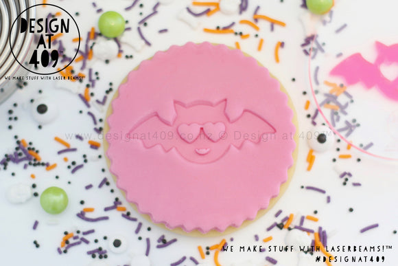 Cute Bat Acrylic Embosser Stamp