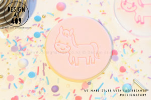 Cute Horse Acrylic Embosser Stamp