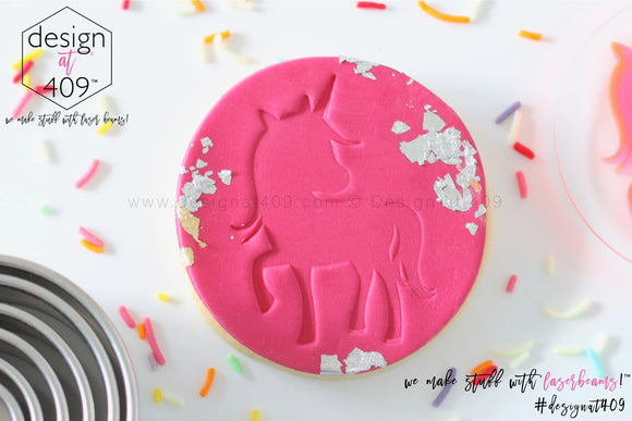 Cute Unicorn Acrylic Embosser Stamp