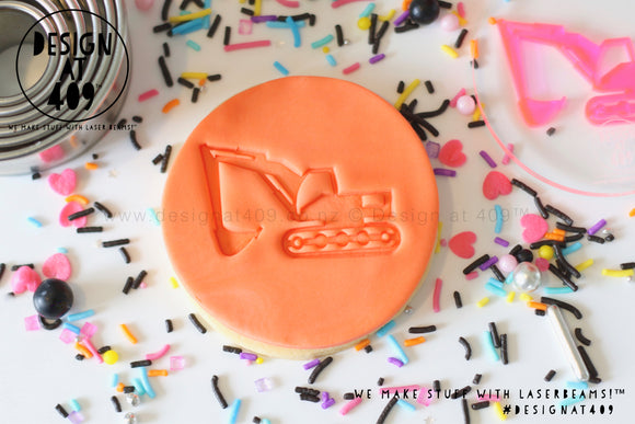 Digger Acrylic Embosser Stamp