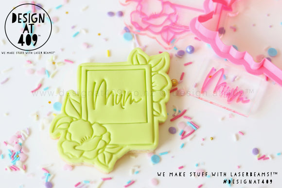 Floral Polaroid Frame Stamp & Cutter (With Bonus Mum Mini Stamp)