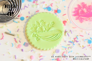 Floral Whale Acrylic Embosser Stamp