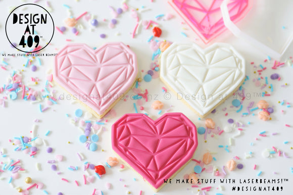 Limited Edition! Stamp & Cutter - Geometric Heart