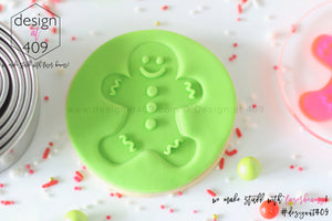 Gingerbread Man Acrylic Embosser Stamp