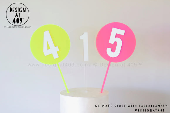 Glow In The Dark Number Cake Topper