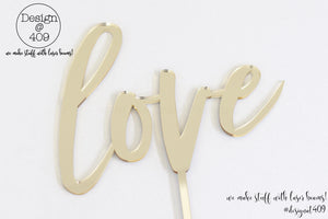 Love Cake Topper / Style #13  (other colour choices available)