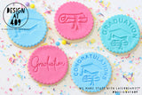Congratulations Cap + Scroll Acrylic Embosser Stamp
