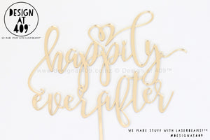 Happily Ever After Cake Topper / Style #3 (colour choices)