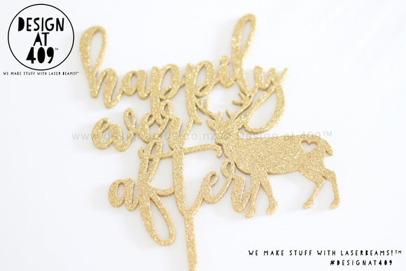 Happily Ever After Cake Topper / Style #4 (colour choices)