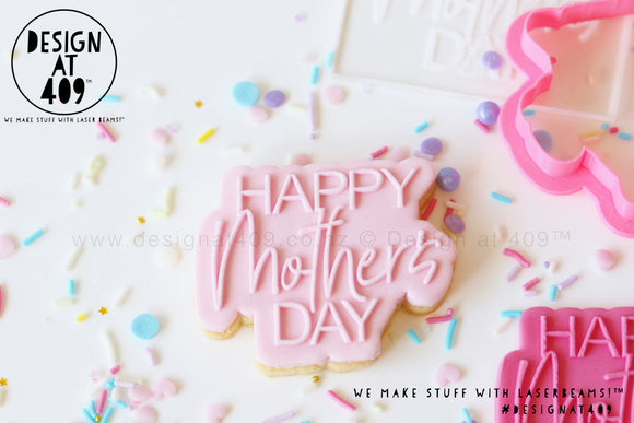 Happy Mother's Day Raised Stamp & Cutter