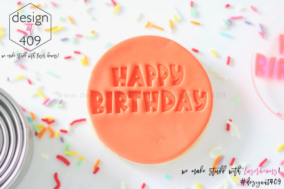 Happy Birthday 5 Acrylic Embosser Stamp