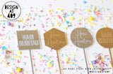 Hari Huritau Etched Cake Topper  (other colour choices available)