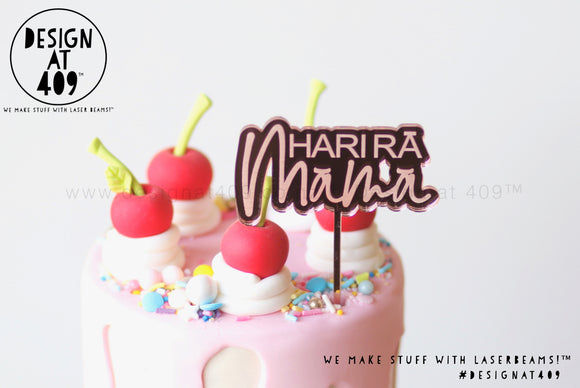 Mini Hari Rā Māmā Bubble Mirror Cake Topper