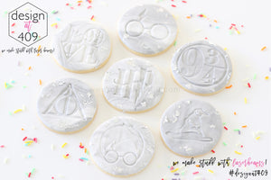 HP Set of 7 Acrylic Embosser Stamps