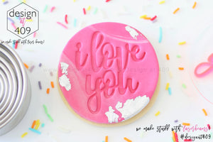 I Love You 1 Acrylic Embosser Stamp