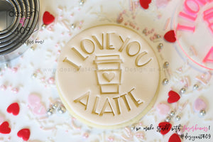 I Love You A Latte Acrylic Embosser Stamp