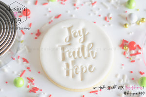 Joy Faith Hope Acrylic Embosser Stamp