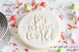 Joy To The World Acrylic Embosser Stamp