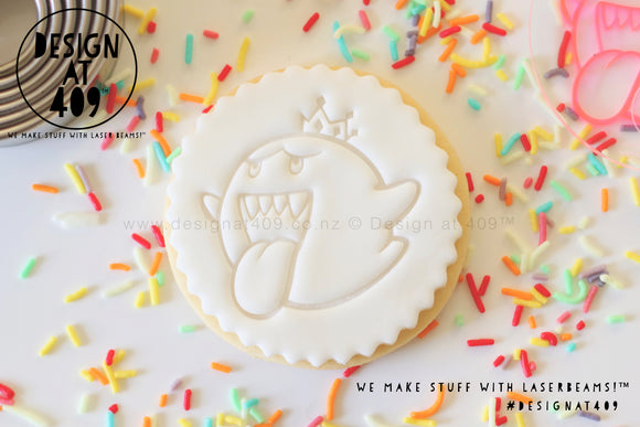 King Boo (Mario) Acrylic Fondant Embosser Cookie Stamp / Design at 409