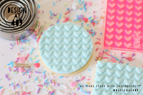 Large Heart Pattern Acrylic Embosser Stamp