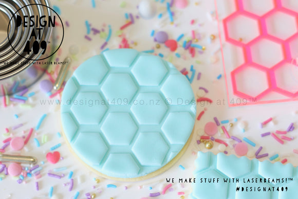 Large Honey Comb Pattern Acrylic Embosser Stamp