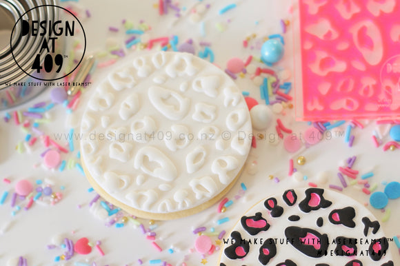 Large Leopard Pattern Acrylic Embosser Stamp