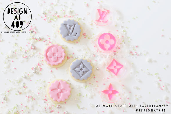 Mini LV Set Acrylic Embosser Stamp