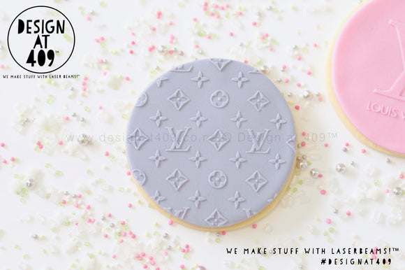LV Pattern Raised Acrylic Fondant Stamp