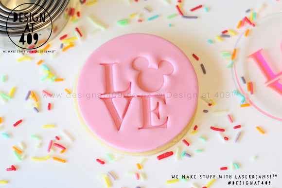Love MM Acrylic Embosser Stamp